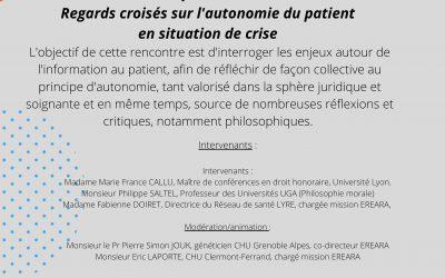Cyber'Ethique du 08/06/2021 – « Savoir pour choisir ? Regards croisés sur l'autonomie du patient »