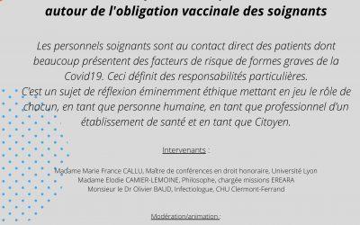 Cyber'Ethique du 19/07/2021 – « Réflexion éthique autour de l'obligation vaccinale des soignants »